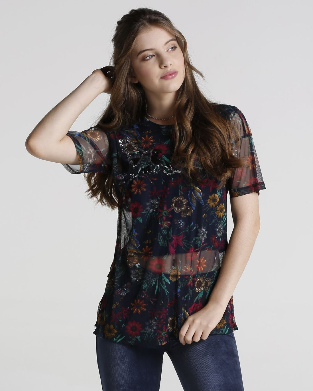 Blusa floral transparencia 12110957 foto1 frontal